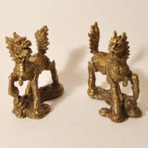 бронзовые фигурки цилиней