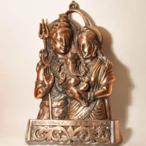 Шива Парвати Ганеша панно