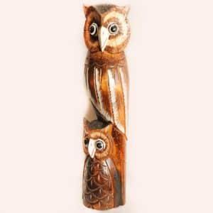 Деревянная фигурка совы