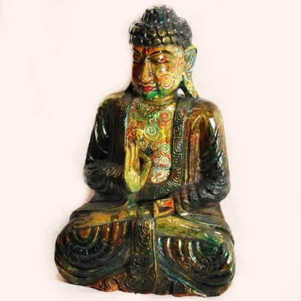 статуэтка Будды деревянная цветная
