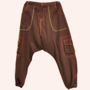 Коричневые джинсовые афгани