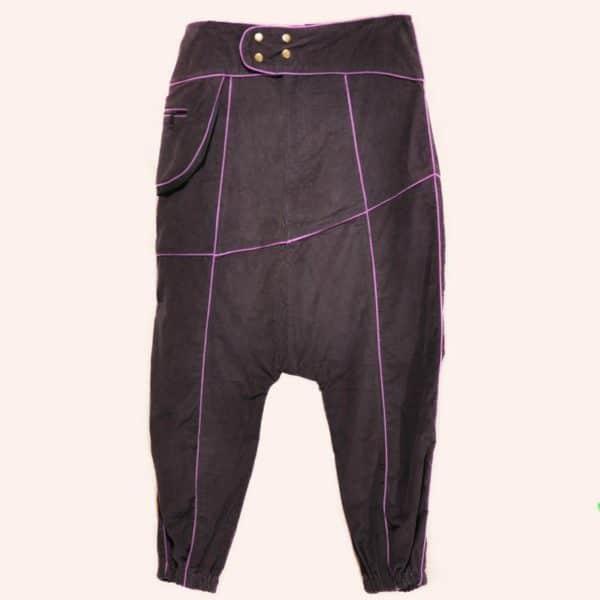 Фиолетовые дизайнерские брюки