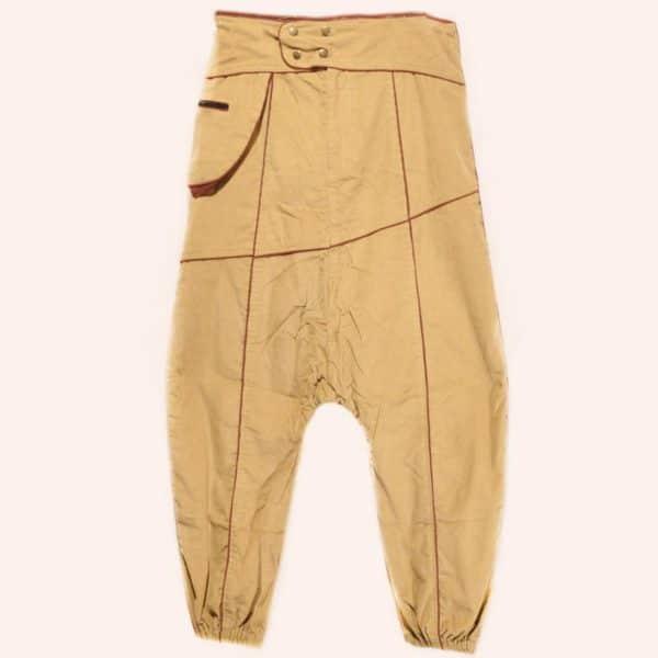 Бежевые дизайнерские брюки