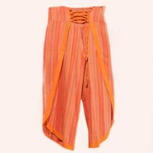 Оранжевые брюки клеш
