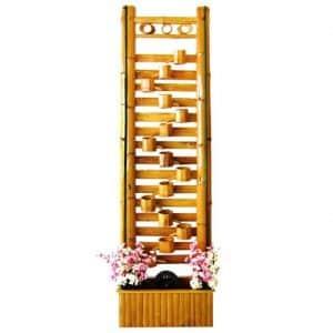 Фонтан из бамбука напольный