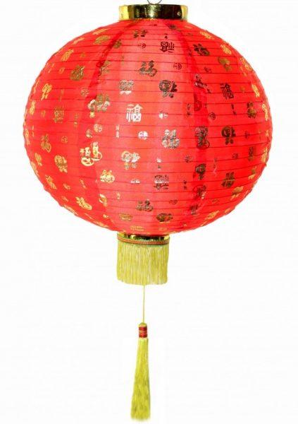 китайский фонарик с маленькими иероглифами