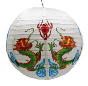 Подвесной фонарик - Два дракона