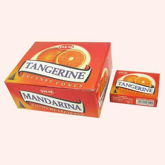 Благовония конусы HEM Tangerine Мандарин