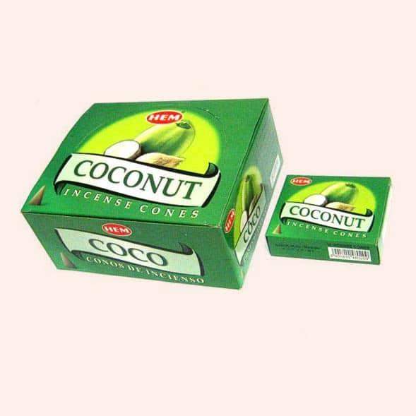 Благовония конусы HEM Coconut Кокос