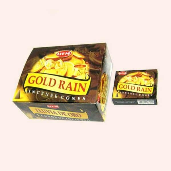 Благовония конусы HEM Gold Rain Денежные