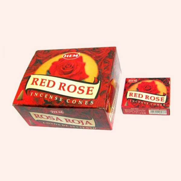 Благовония конусы HEM Red Rose Красная Роза