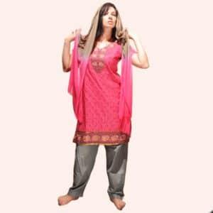 Розовый шальвар камиз