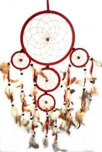 Ловец снов - 5 колец красный
