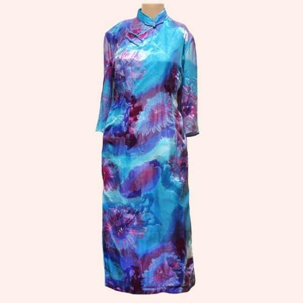 Китайское длинное платье
