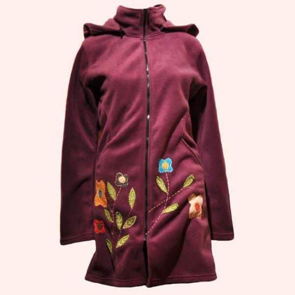 Фиолетовая туника Цветочная поляна