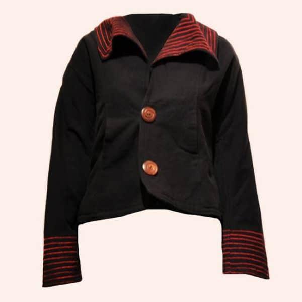 Чёрная куртка-пиджак