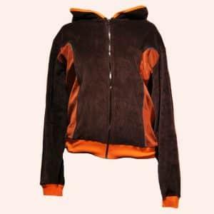 Коричнево-оранжевый худи