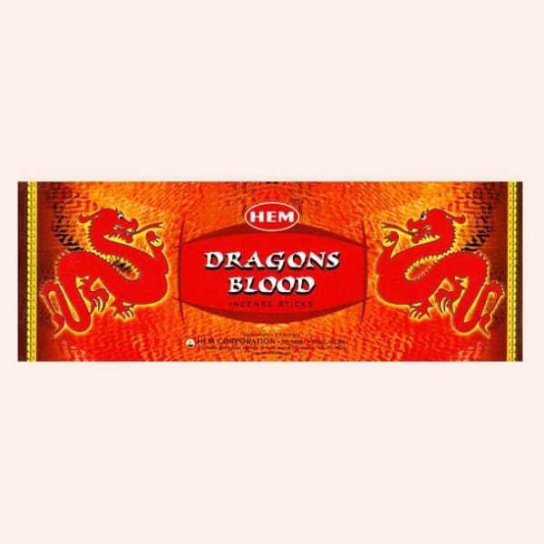 Благовония HEM Dragons Blood Blue Кровь Дракона Красные