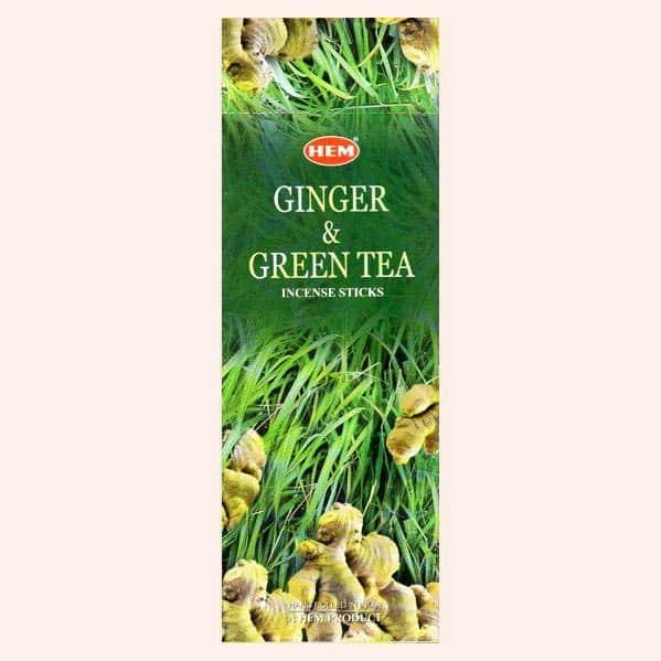 Благовония HEM Ginger Green Tea Имбирь Зелёный Чай