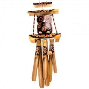 Музыка ветра - сова на бамбуке