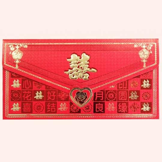 Красный китайский конверт денежный