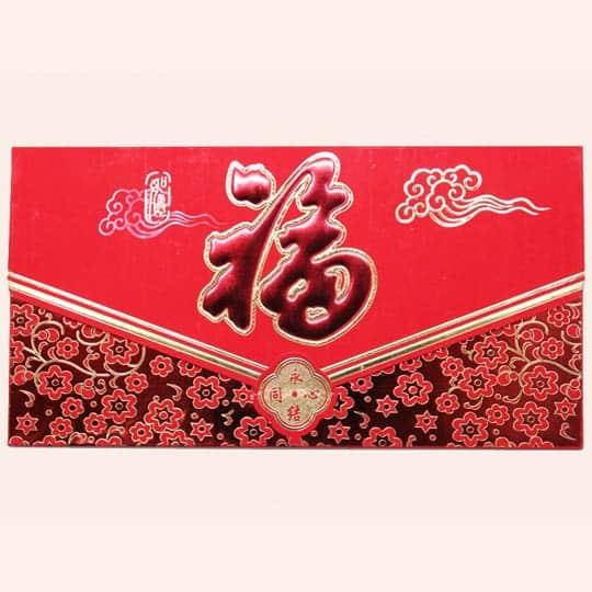 Красный китайский конверт для денег