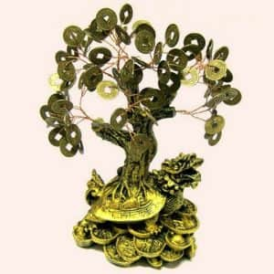 Денежное дерево на Драконовой черепахе 20см