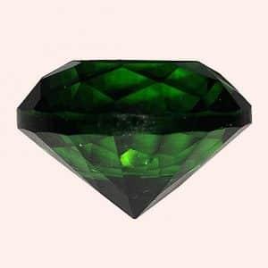Бриллиант 2 см зеленый