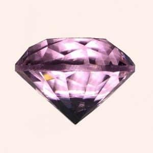 Бриллиант 2 см розовый