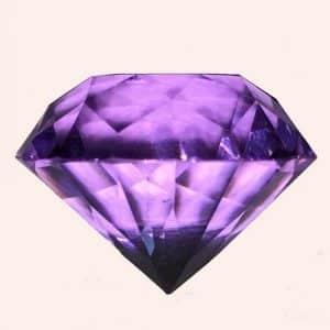 Бриллиант 2 см фиолетовый