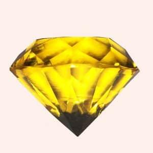 Бриллиант 2 см желтый