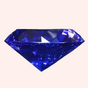 Бриллиант 10 см синий