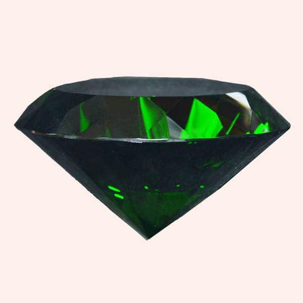 Бриллиант 10 см зелёный