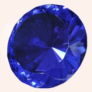Бриллиант 15 см синий