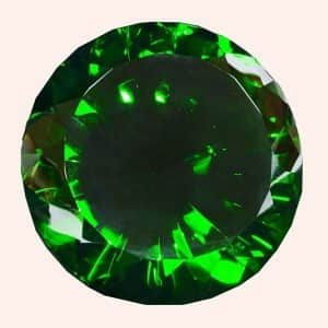 Бриллиант 15 см зелёный