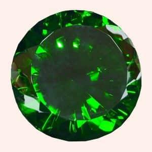 Бриллиант 20 см зелёный