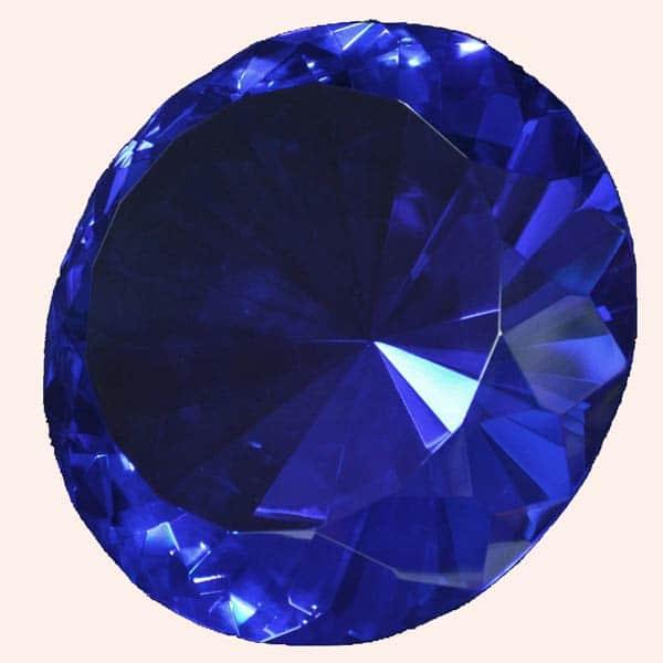 Бриллиант 20 см синий