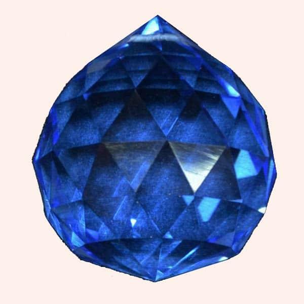 Кристалл Фен Шуй 3.5 см синий