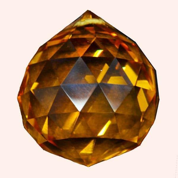 Кристалл Фен Шуй 3.5 см оранжевый