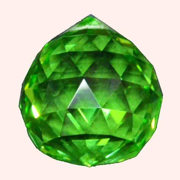 Кристалл Фен Шуй 3.5 см зеленый