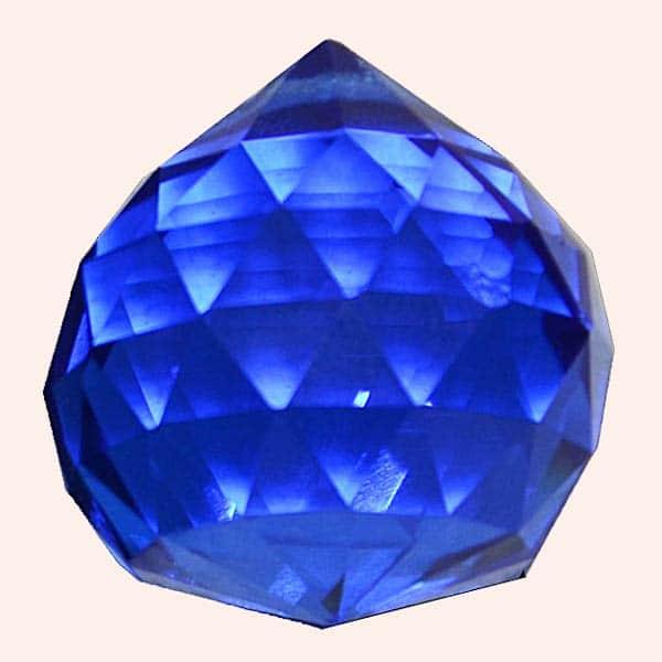Кристалл Фен Шуй 2,3 см синий