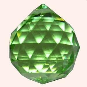 Кристалл Фен Шуй 2,3 см зеленый