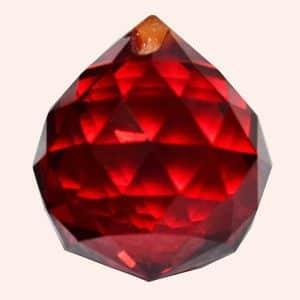 Кристалл Фен Шуй 2,3 см красный