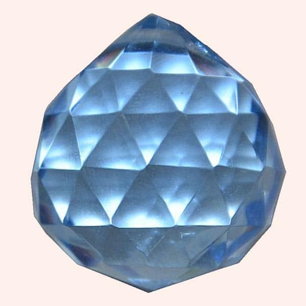 Кристалл Фен Шуй 2,3 см голубой голубой