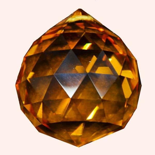 Кристалл Фен Шуй 5 см оранжевый