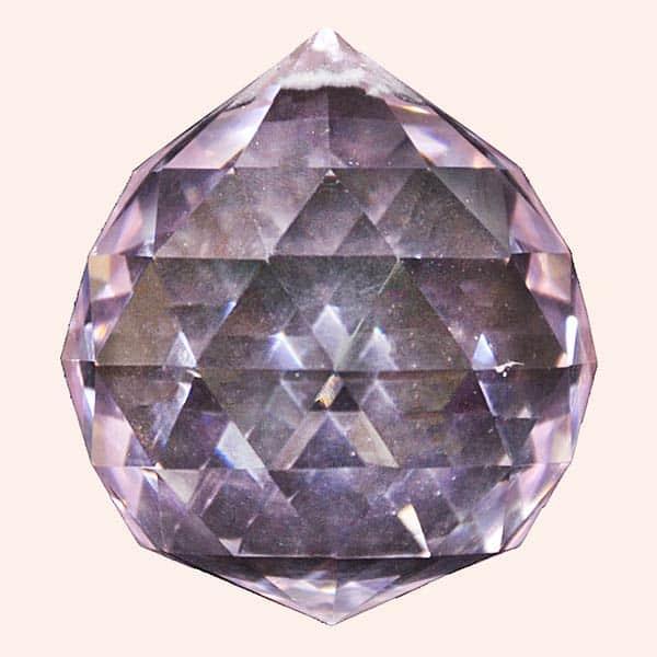 Кристалл Фен Шуй 5 см фиолетовый