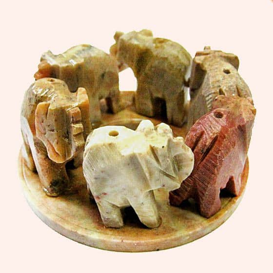 Подставка для благовоний 6 слонов