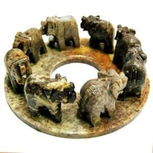 Подставка для благовоний 8 слонов