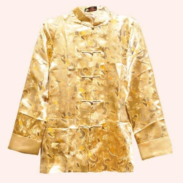 Золотой пиджак из шёлка