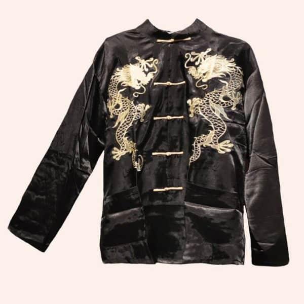 Чёрная курточка с драконами